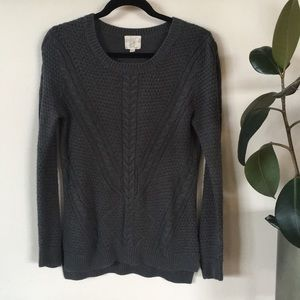 Dark grey Cable Sweater